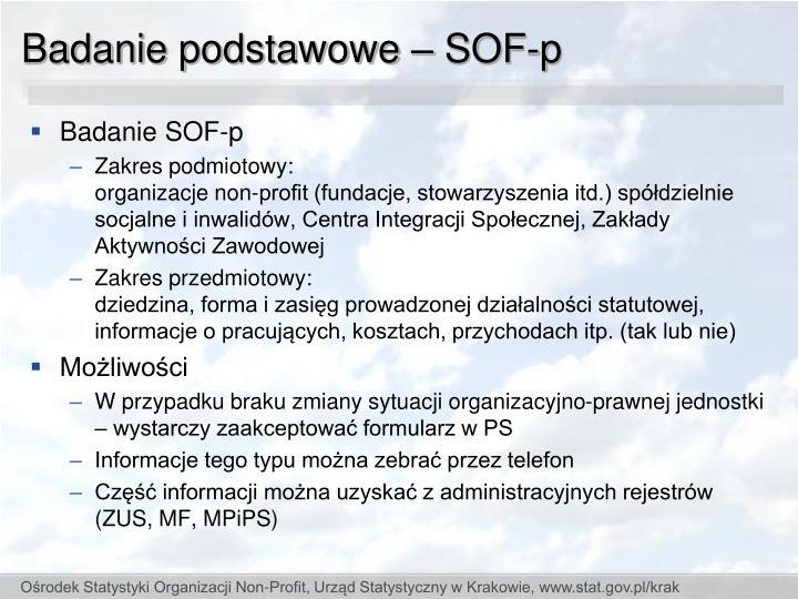 Badanie podstawowe – SOF-p
