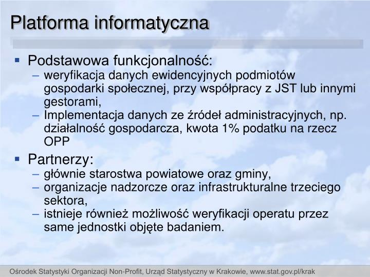 Platforma informatyczna