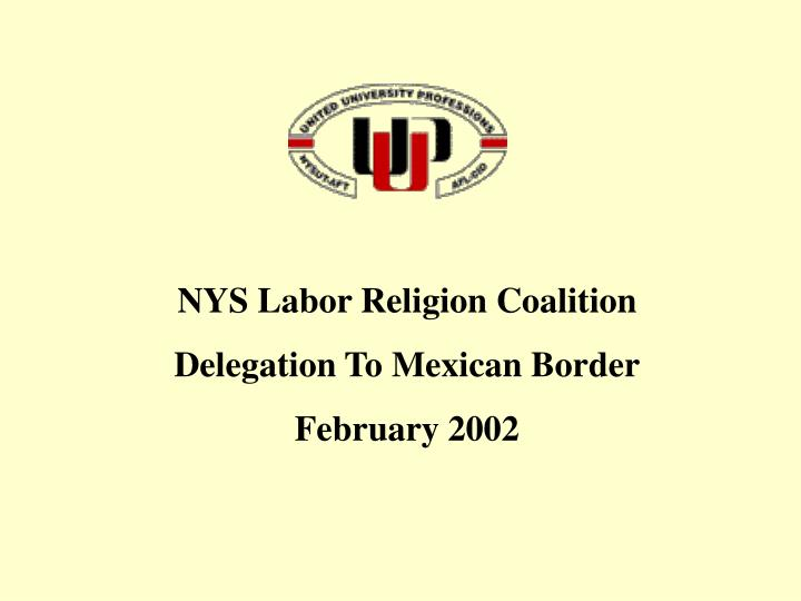 NYS Labor Religion Coalition