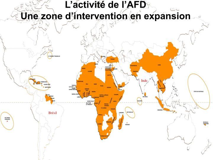 L'activité de l'AFD