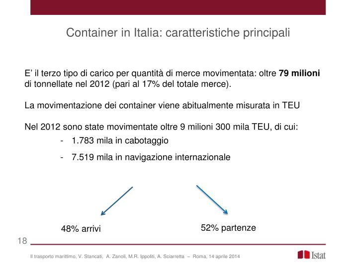 Container in Italia: caratteristiche principali