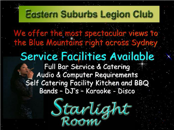 We offer the most spectacular views to the Blue Mountains right across Sydney