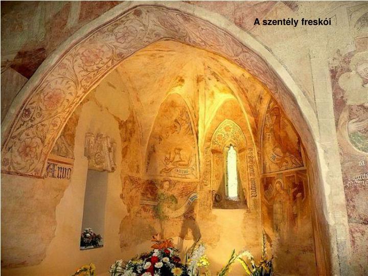 A szentély freskói