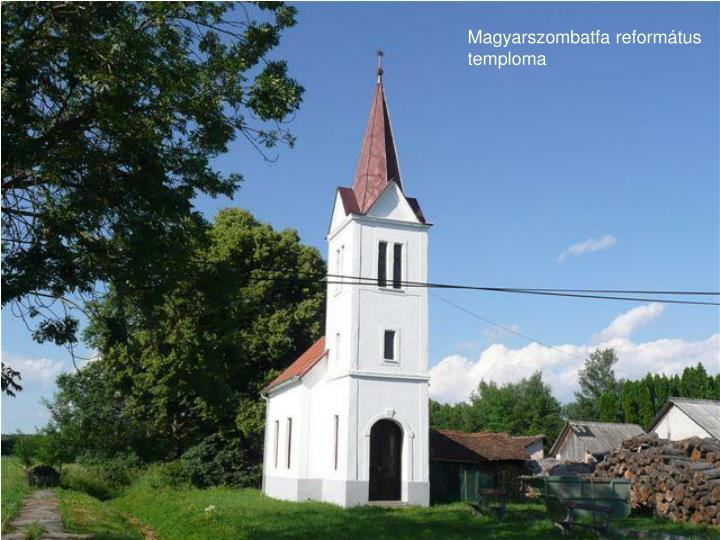 Magyarszombatfa református