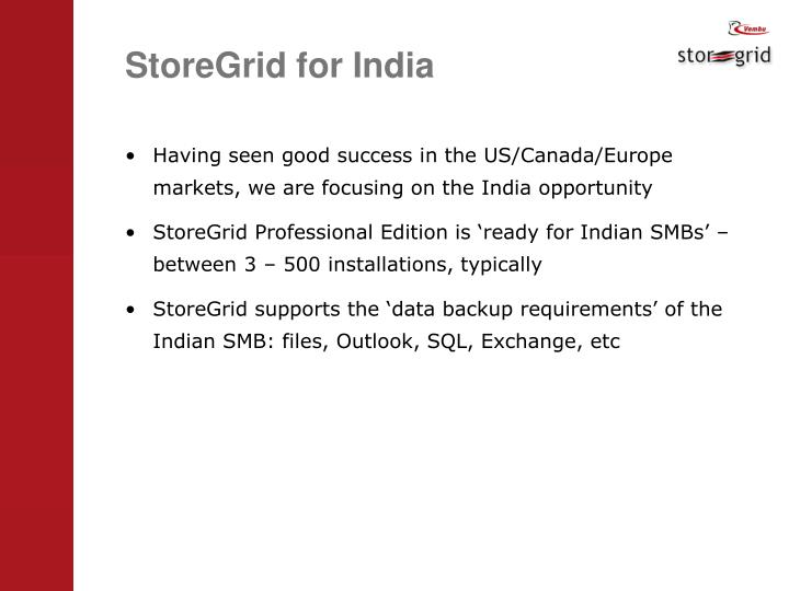 StoreGrid for India
