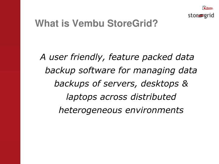 What is Vembu StoreGrid?
