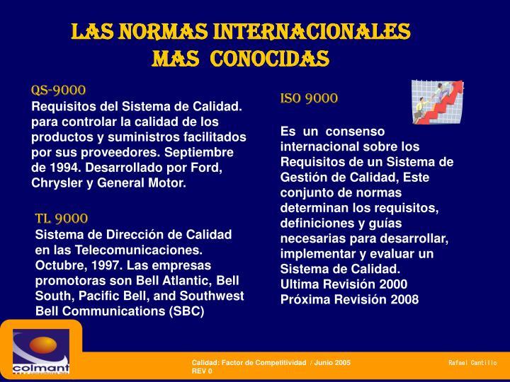 las normas internacionales