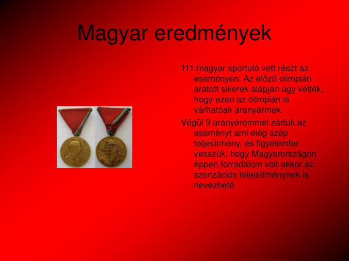 Magyar eredmények
