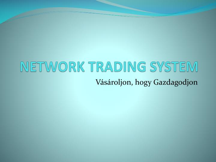 Network trading system