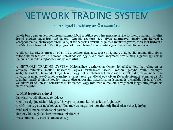 Network trading system1