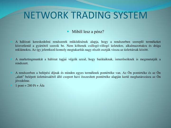 Network trading system2
