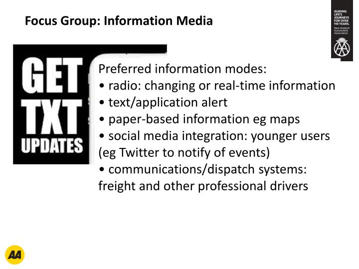Focus Group: Information Media