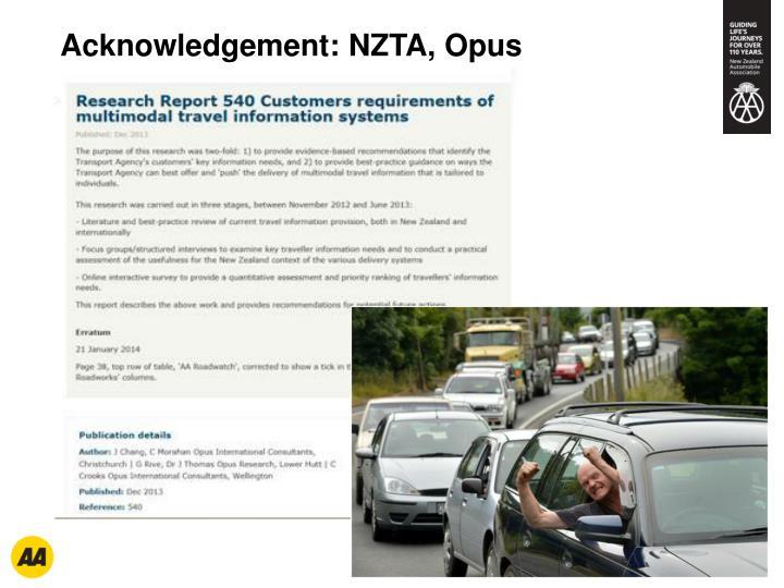 Acknowledgement: NZTA, Opus