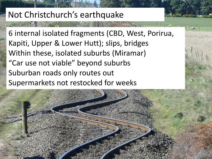 Not Christchurch's earthquake