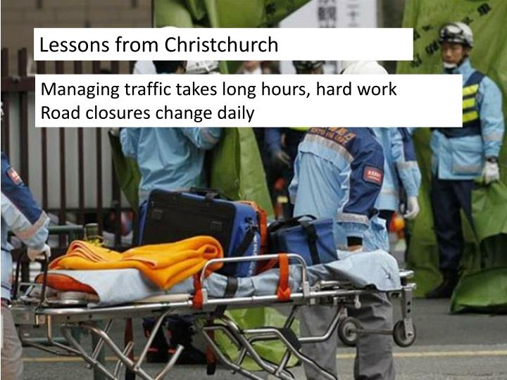 Lessons from Christchurch