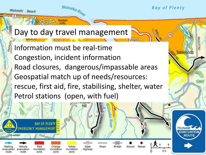 Day to day travel management