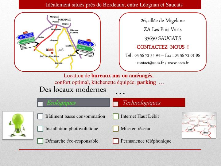 Idéalement situés près de Bordeaux, entre Léognan et