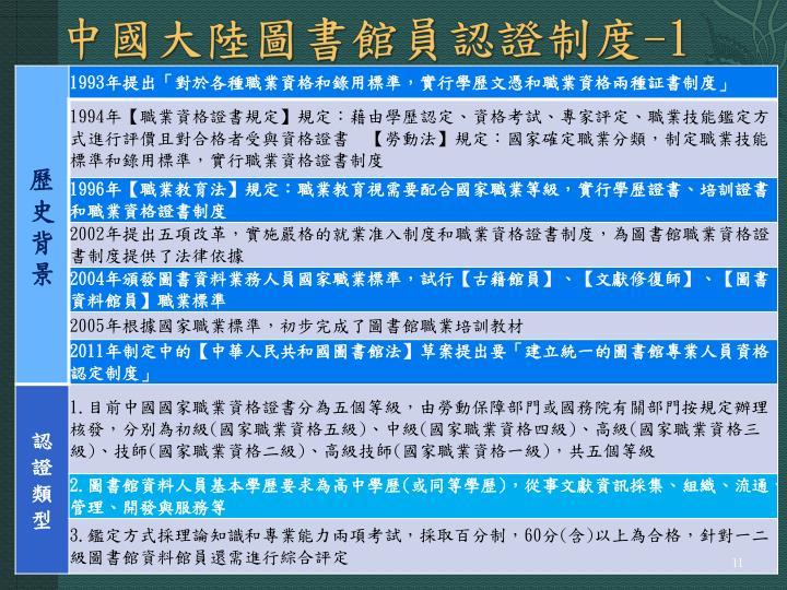中國大陸圖書館員認證