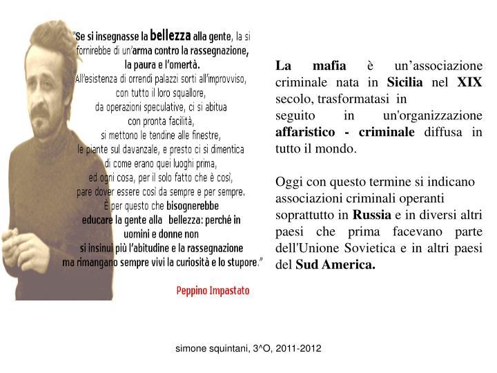 Ppt in italia ci sono diversi tipi di mafia in sicilia la mafia locale si chiama cosa nostra - Pagamenti diversi bnl cosa sono ...