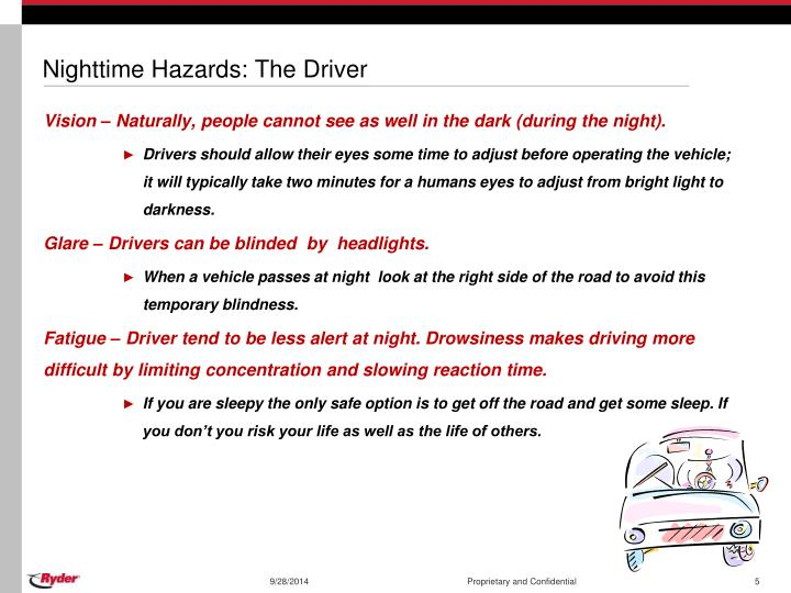 Nighttime Hazards: The Driver