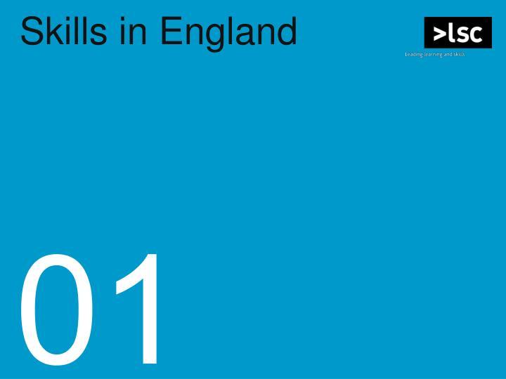 Skills in England