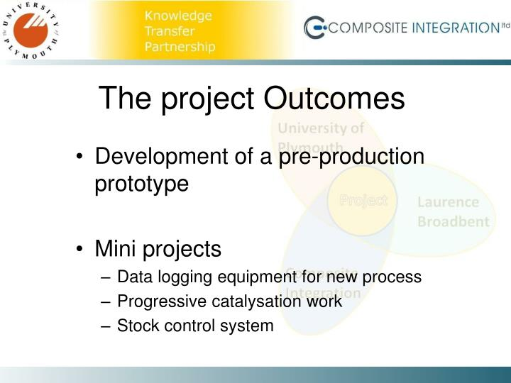 The project Outcomes
