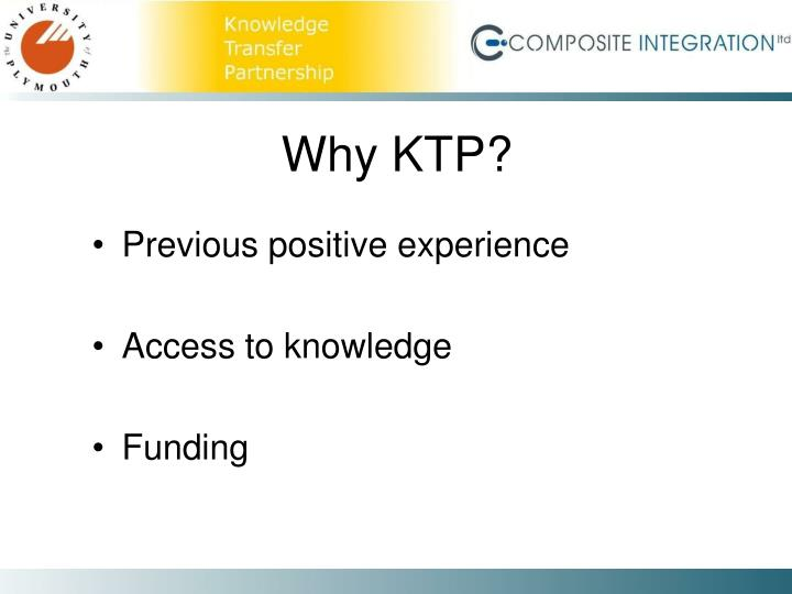 Why KTP?
