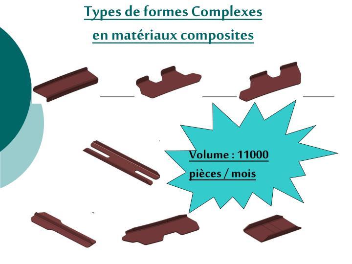 Types de formes Complexes