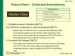 future plans endorsed amendments
