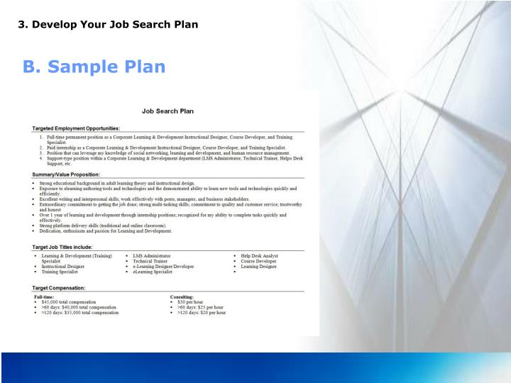 3. Develop Your Job Search Plan