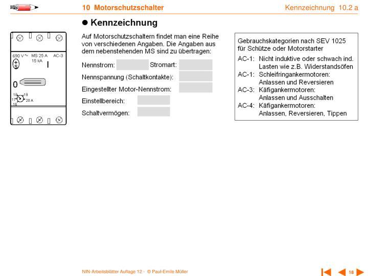 Kennzeichnung  10.2 a