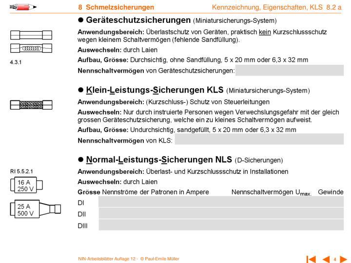 Kennzeichnung, Eigenschaften, KLS  8.2 a
