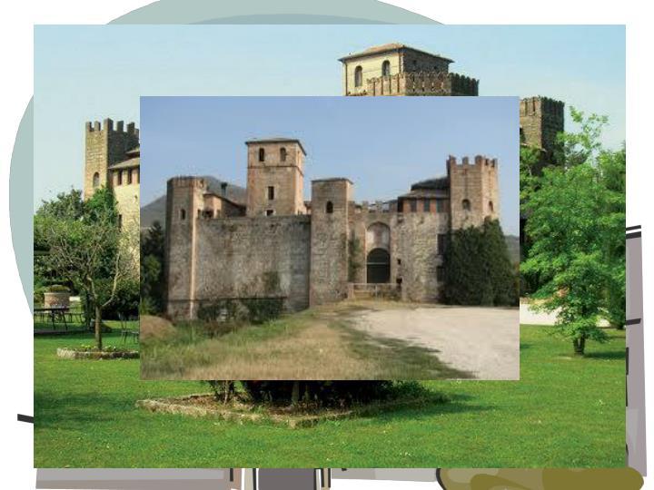 Il Castello di Valbona fu edificato per la difesa del territorio dei Conti di Lozzo. Stabilire con certezza la data della sua costruzione è impossibile, ma si sa che già esisteva nella prima metà del 13° secolo . E' considerato un punto di riferimento obbligatorio per le guerre che in quegli anni opponevano Padovani, Scaligeri, Estensi e Vicentini.