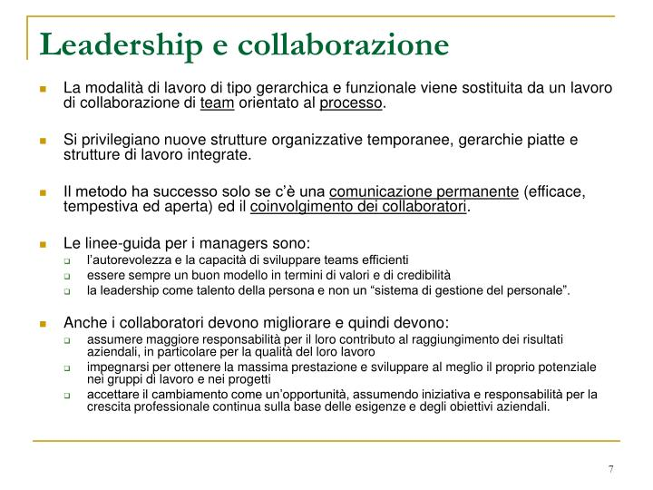 Leadership e collaborazione