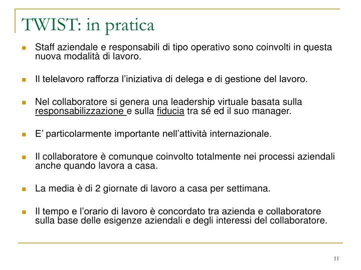 TWIST: in pratica