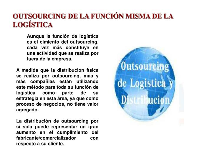 OUTSOURCING DE LA