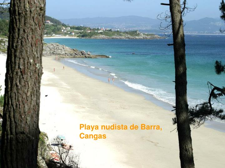 Playa nudista de Barra, Cangas