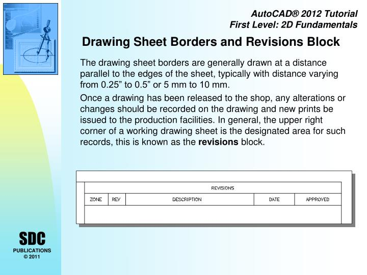 Drawing Sheet Borders and Revisions Block