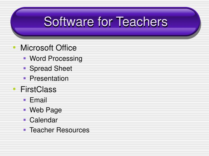 Software for Teachers