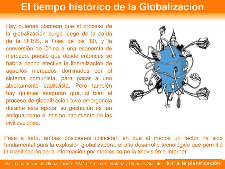 El tiempo histórico de la Globalización