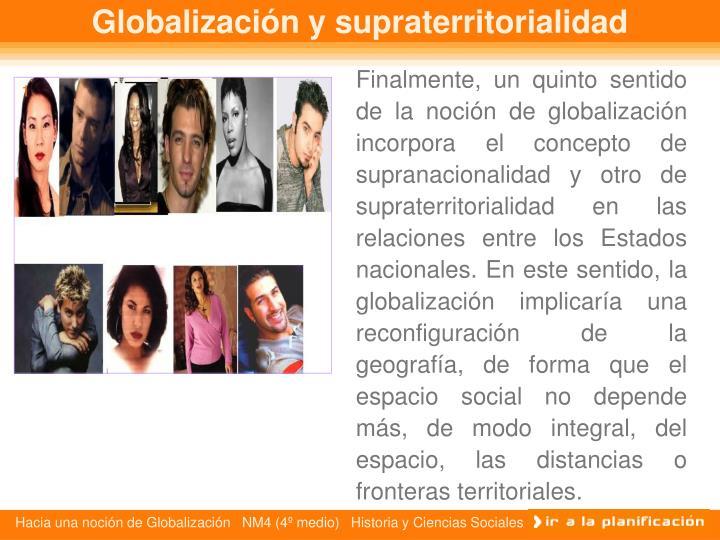 Globalización y supraterritorialidad