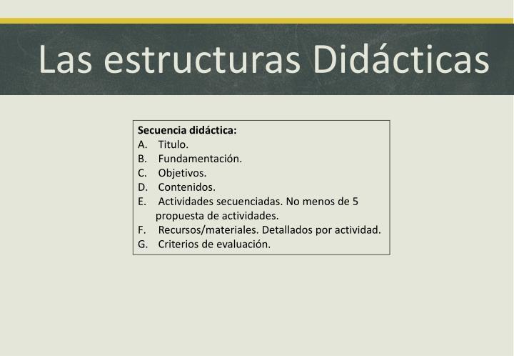 Las estructuras Didácticas
