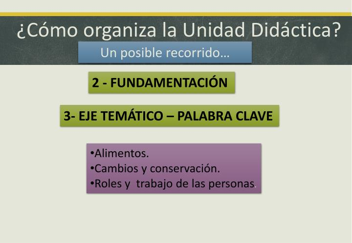 ¿Cómo organiza la Unidad Didáctica?