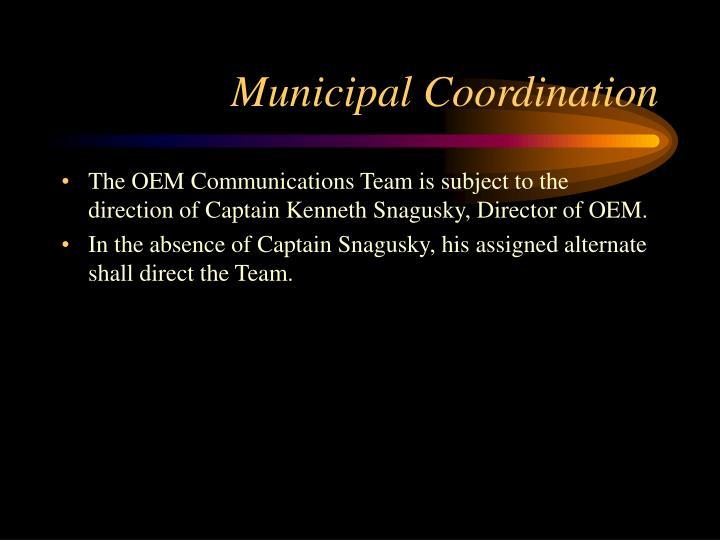 Municipal Coordination