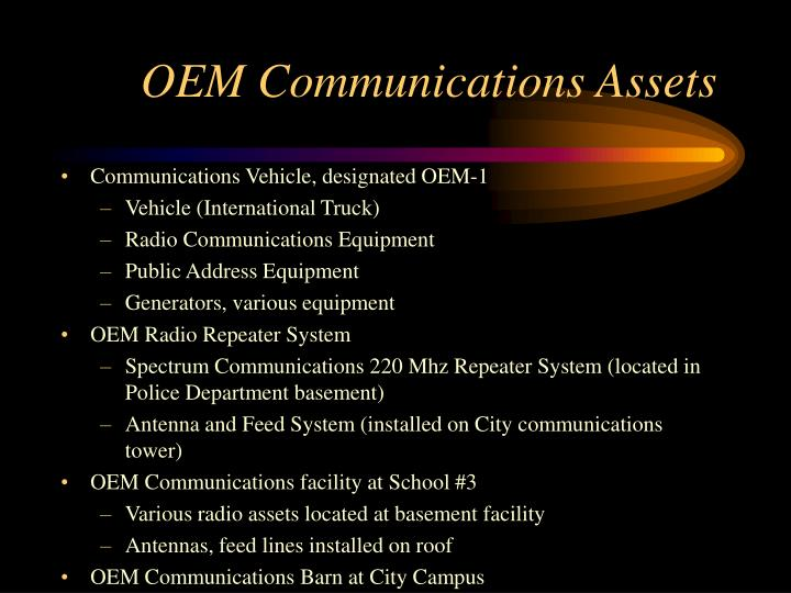OEM Communications Assets