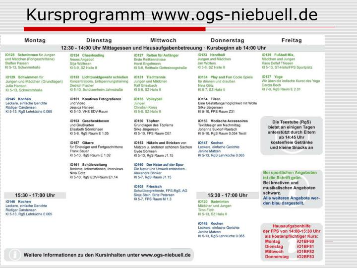 Kursprogramm www.ogs-niebuell.de