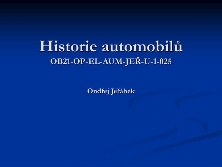 Historie automobilů