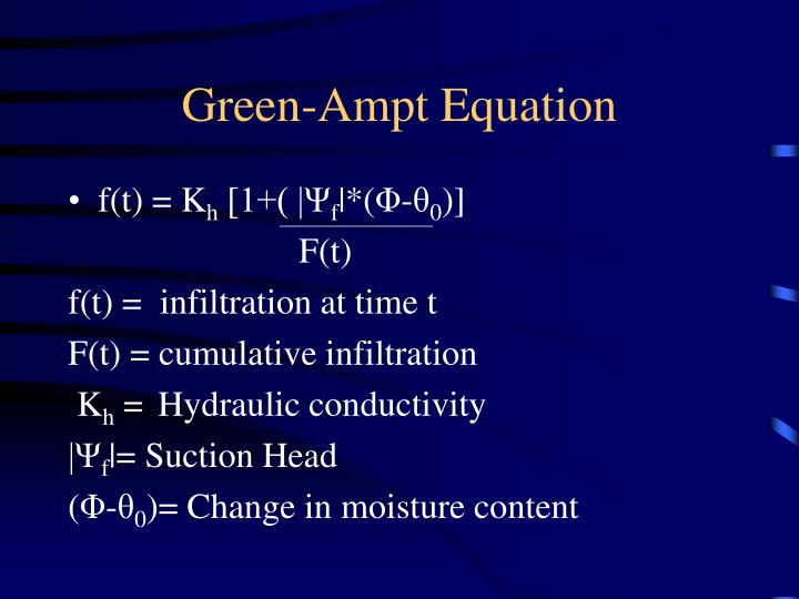 Green-Ampt Equation