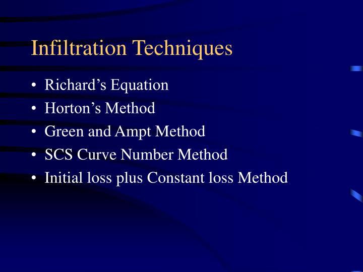 Infiltration Techniques
