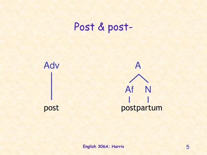 Post & post-